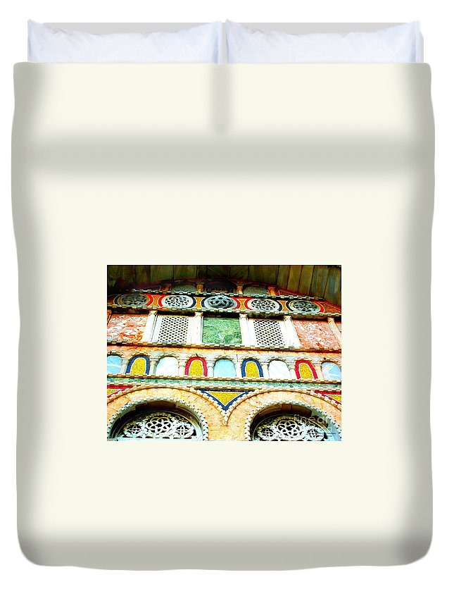 Venice Duvet Cover featuring the photograph Colorful Tiles by Tisha Clinkenbeard