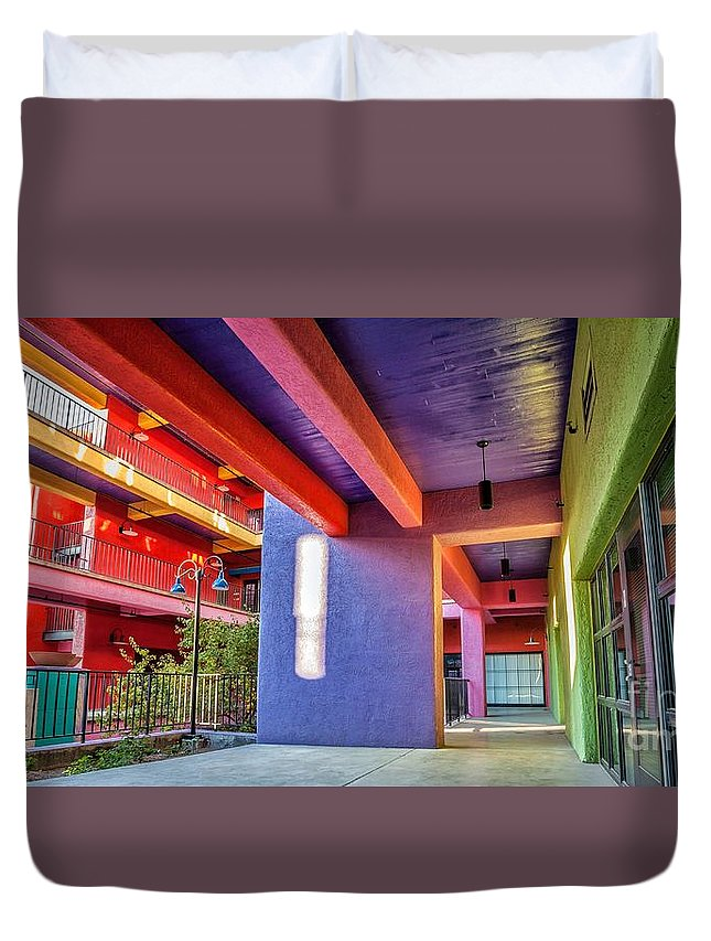 2011 Duvet Cover featuring the photograph Colorful Tucson Apartment by Matt Suess
