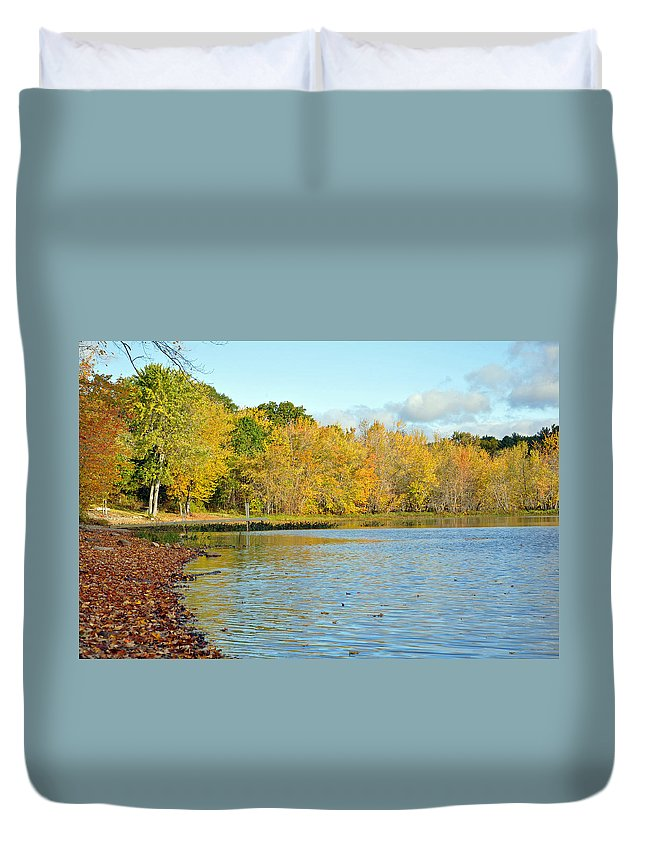 Fall Duvet Cover featuring the photograph Colors Of Fall by Glenn Gordon