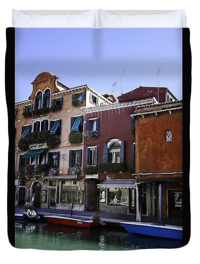 Venice Duvet Cover featuring the photograph Colors Of Venice by Madeline Ellis