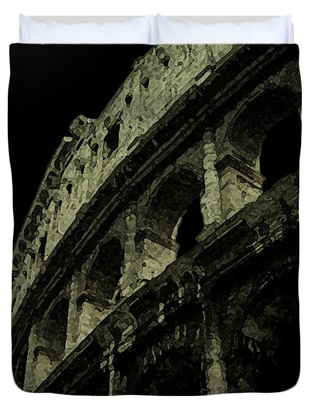 Colosseum Duvet Cover featuring the photograph Colosseum by Sumi Martin