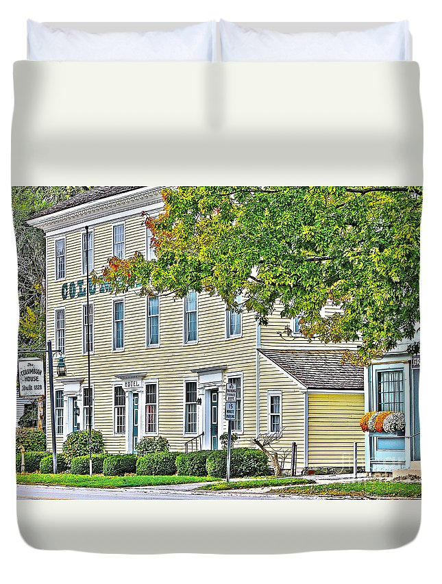Columbian House Duvet Cover featuring the photograph Columbian House by Jack Schultz