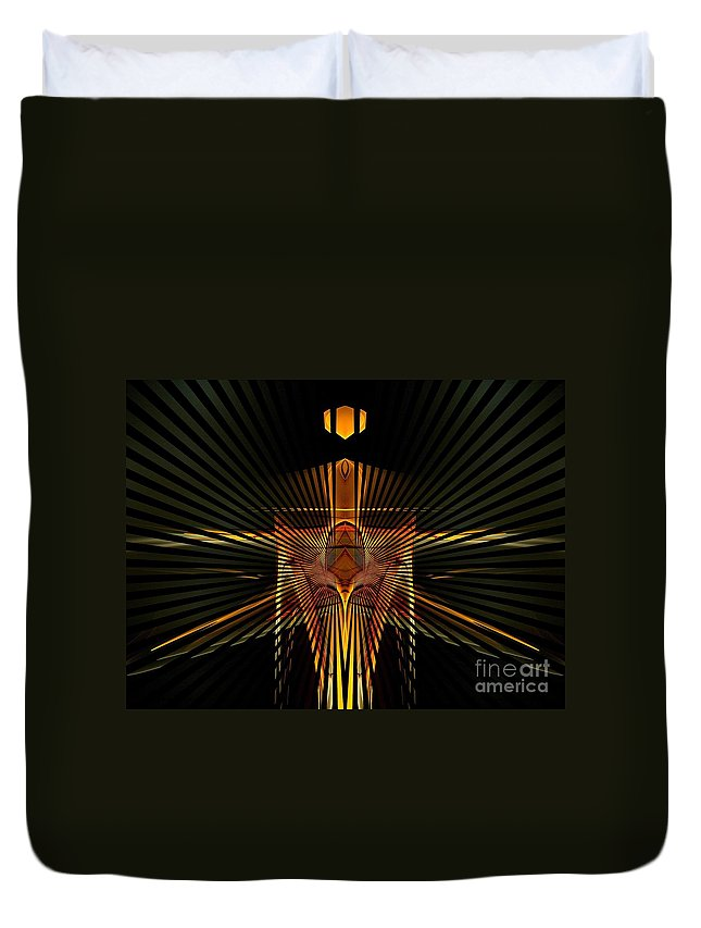 Structure Duvet Cover featuring the digital art Complex Structure by Klara Acel