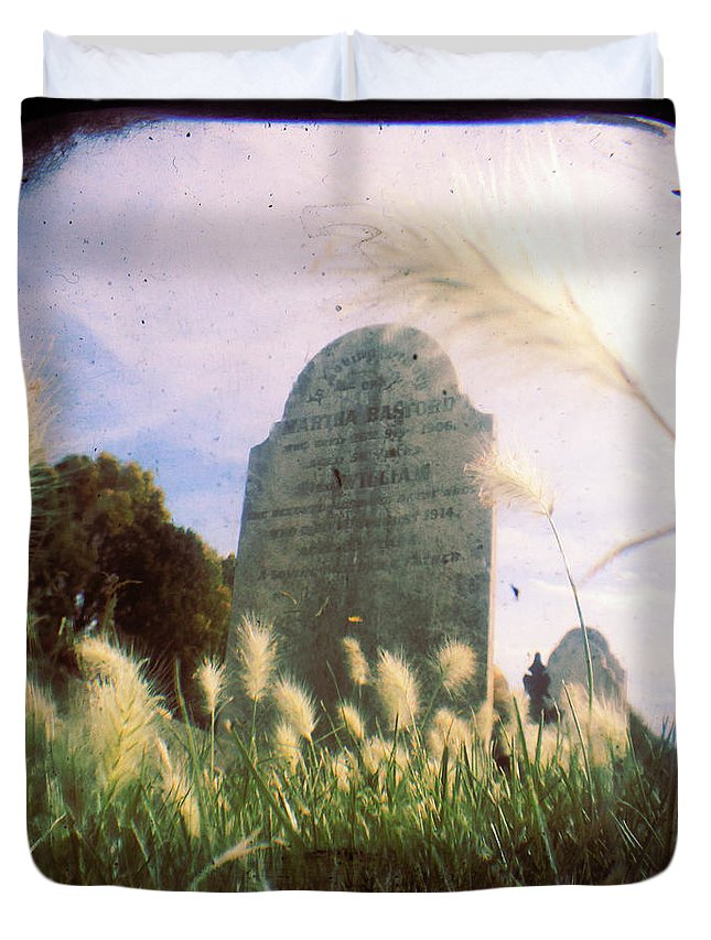 Cemetery Duvet Cover featuring the photograph Concilation by Andrew Paranavitana
