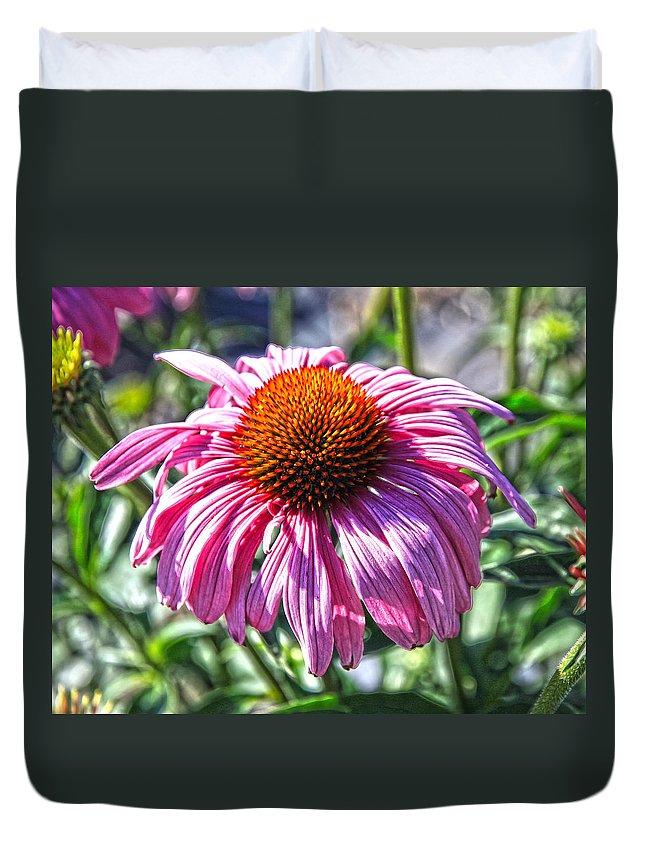 Sunflower Duvet Cover featuring the photograph Coneflower Fun by Steve McKinzie