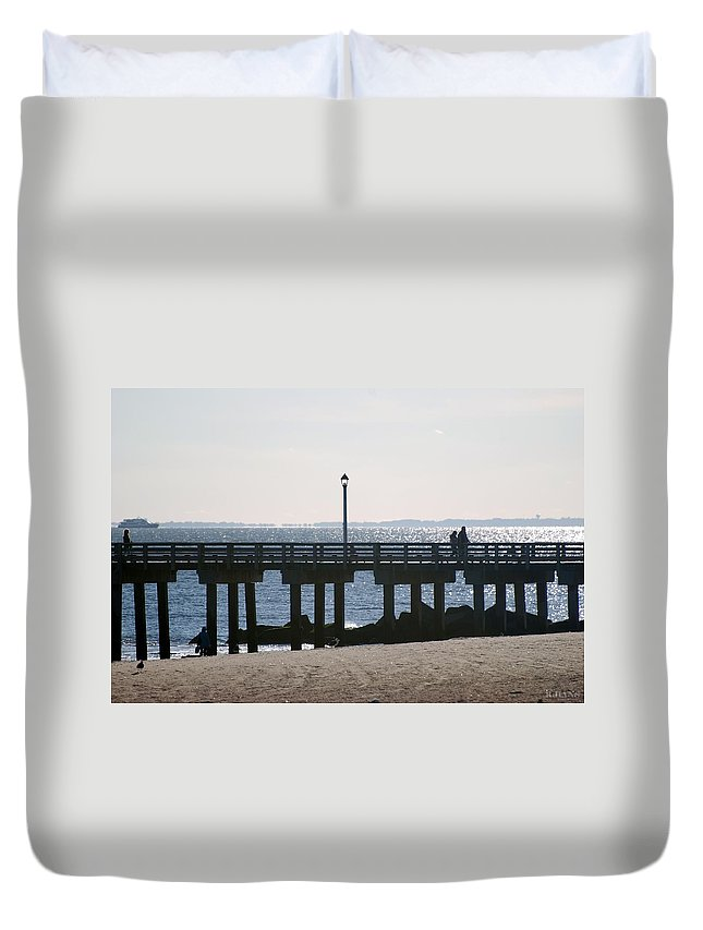 Brooklyn Duvet Cover featuring the photograph Coney Island Coast by Rob Hans