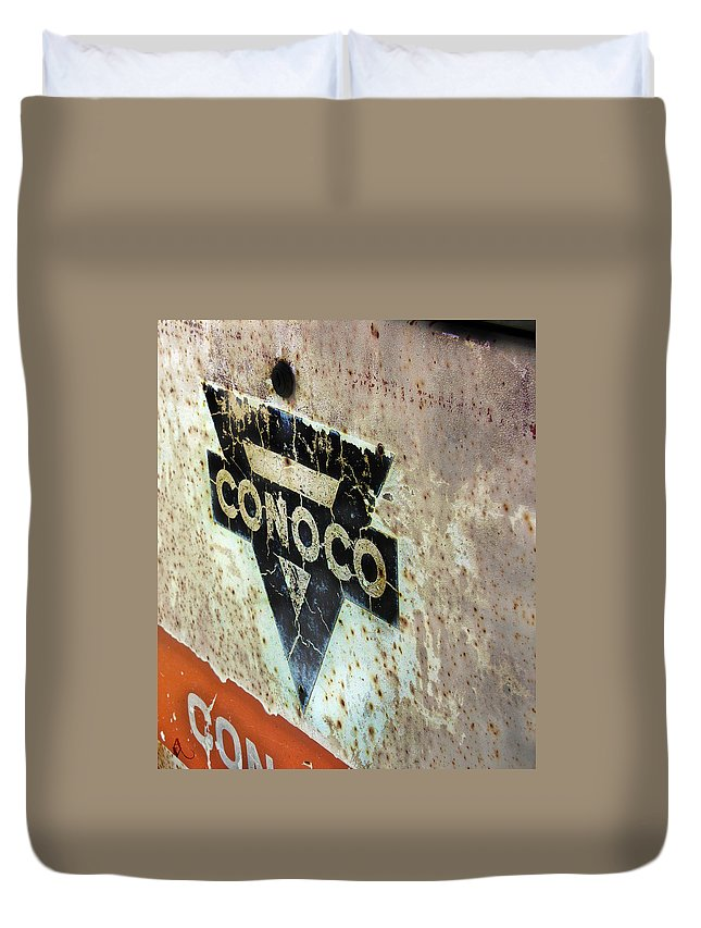 Conoco Duvet Cover featuring the photograph Conoco by Adam Vance