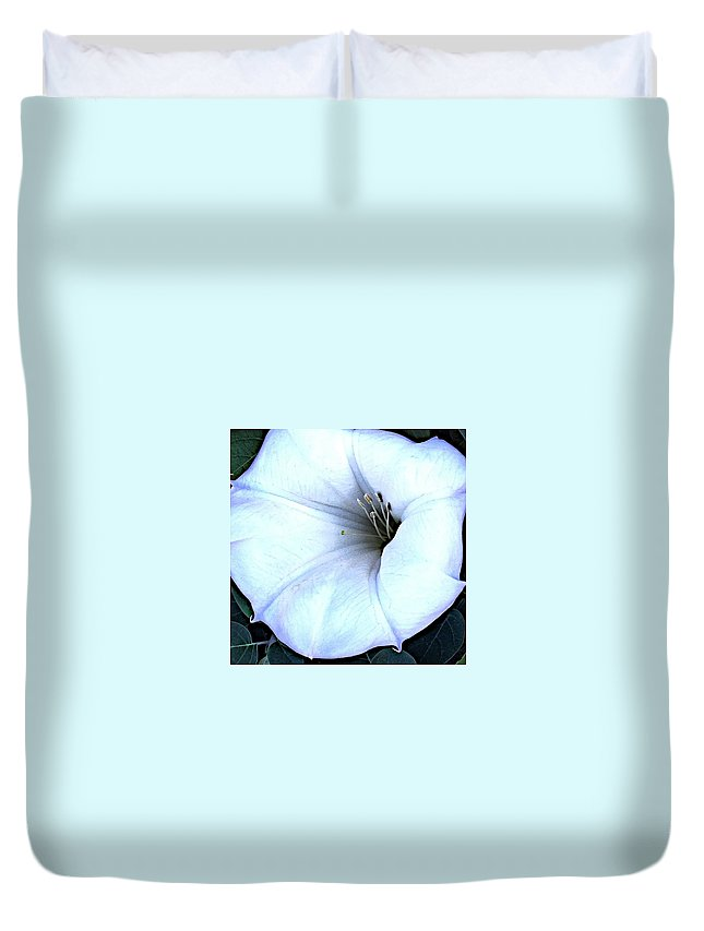Flower Duvet Cover featuring the photograph Construct by Joseph Yarbrough