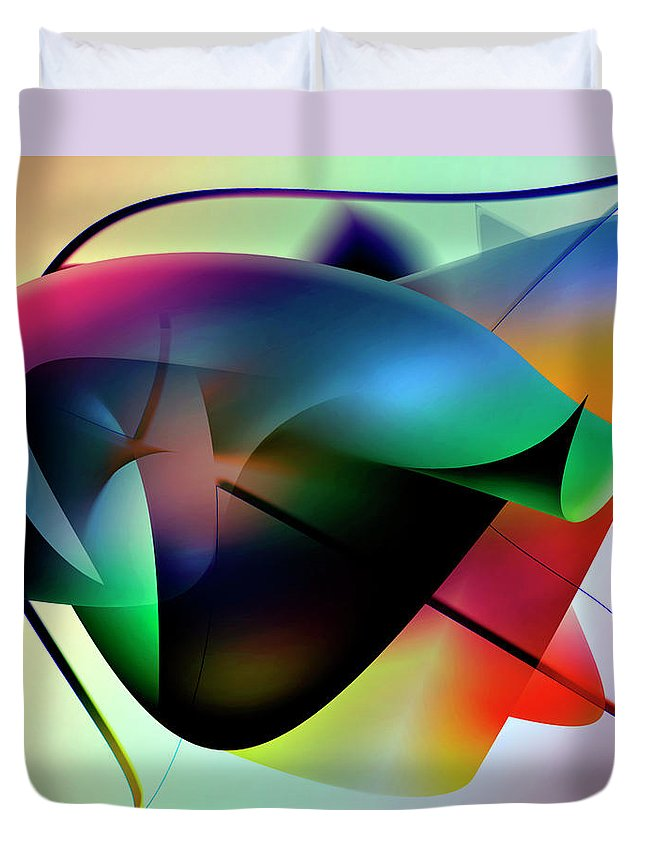 Abstracts Duvet Cover featuring the digital art Soulscape 8 by Endre Balogh