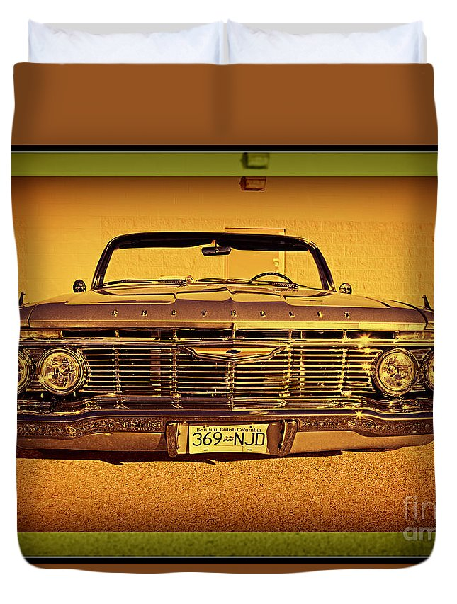 Cars Duvet Cover featuring the photograph Cool Impala by Randy Harris
