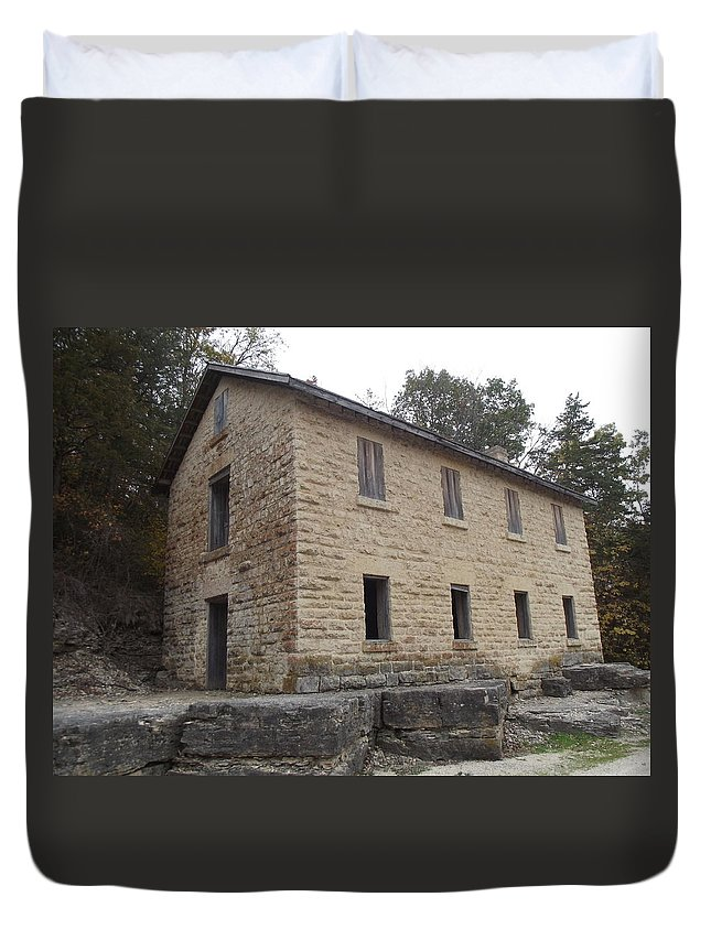 Mill Duvet Cover featuring the photograph Cooperage by Bonfire Photography