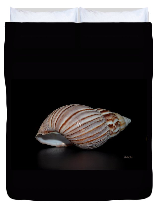 Copper Duvet Cover featuring the photograph Copper Stripes by Maria Urso