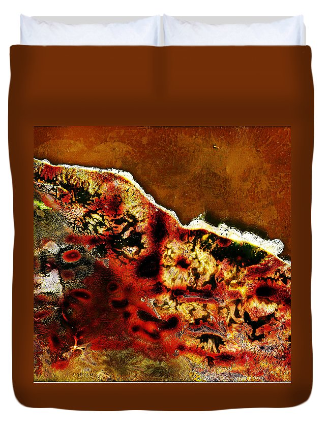 Andy Warhol Duvet Cover featuring the photograph Coral 1 by Doug Duffey
