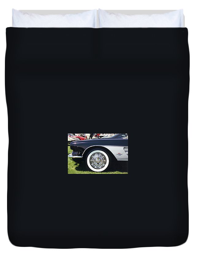 Vintage Duvet Cover featuring the photograph Corvettes by Stacy C Bottoms