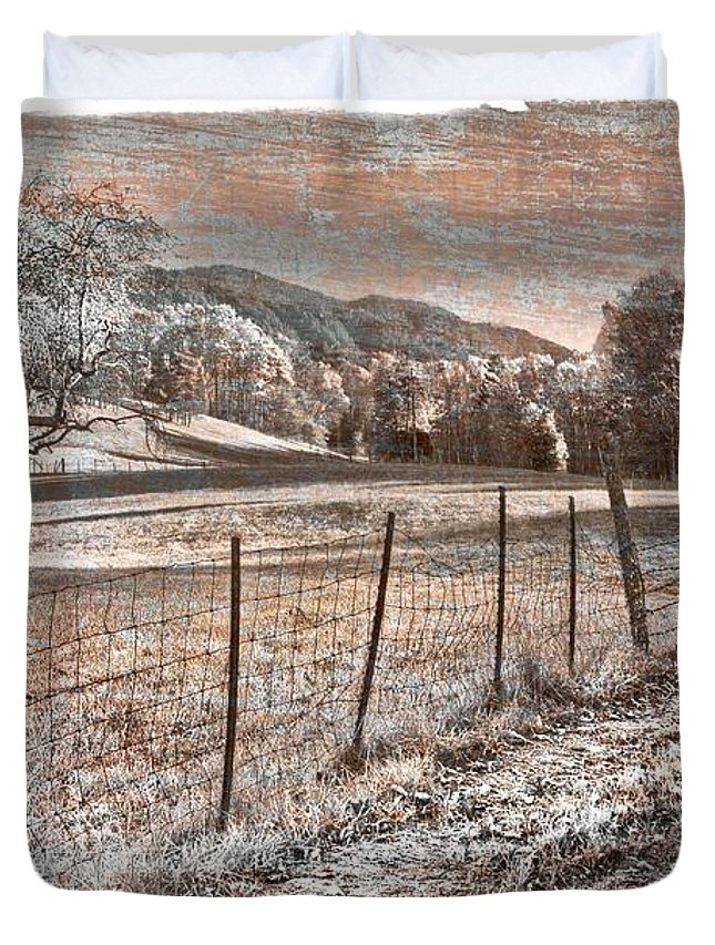 Appalachia Duvet Cover featuring the photograph Country Lane by Debra and Dave Vanderlaan