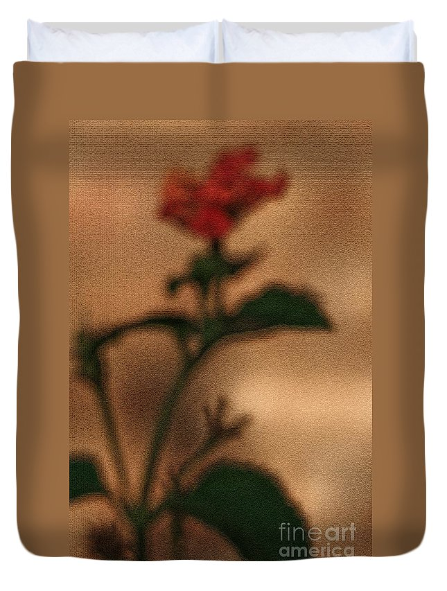 Lantana Bush Duvet Cover featuring the photograph Cracked Flower by Kim Henderson