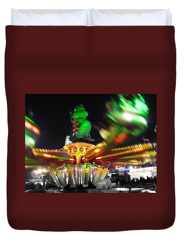 Ride Duvet Cover featuring the digital art Cricket Hopper by Charles Stuart