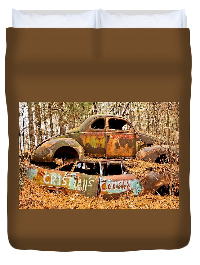 Junk Yard Duvet Cover featuring the photograph Cristian's Cousin by Tom and Pat Cory