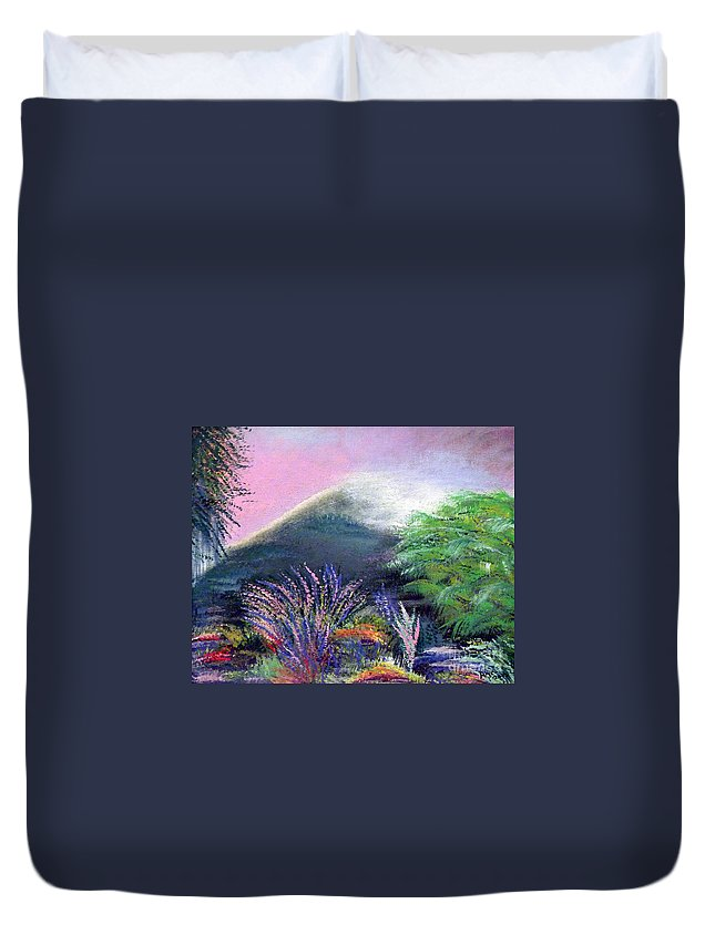 Ireland Duvet Cover featuring the painting Croagh Patrick by Alys Caviness-Gober