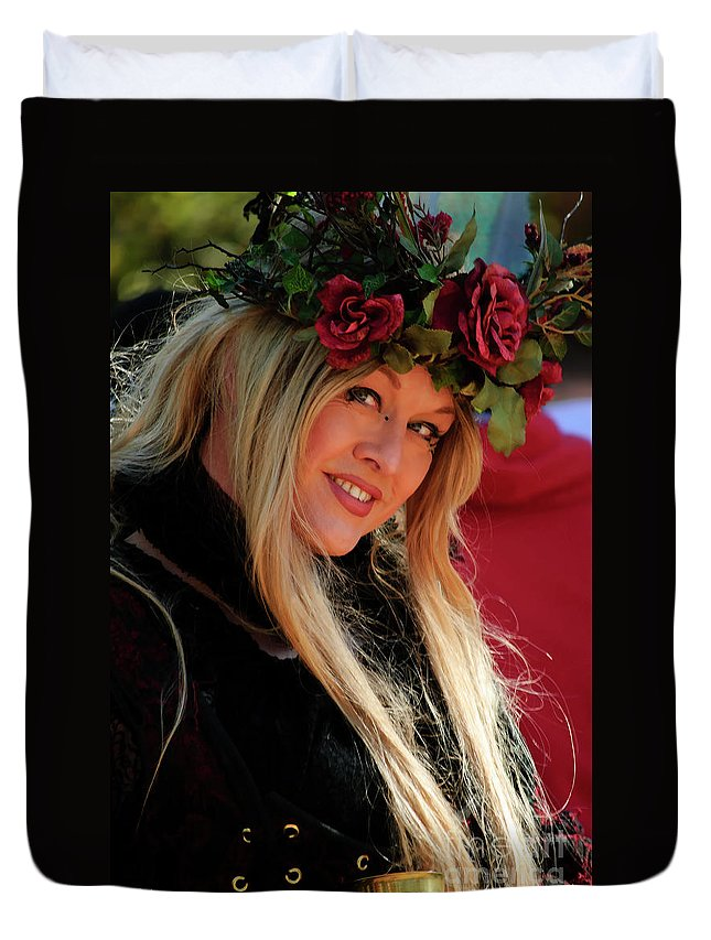 Nature Duvet Cover featuring the photograph Crowned By Nature by Diego Re