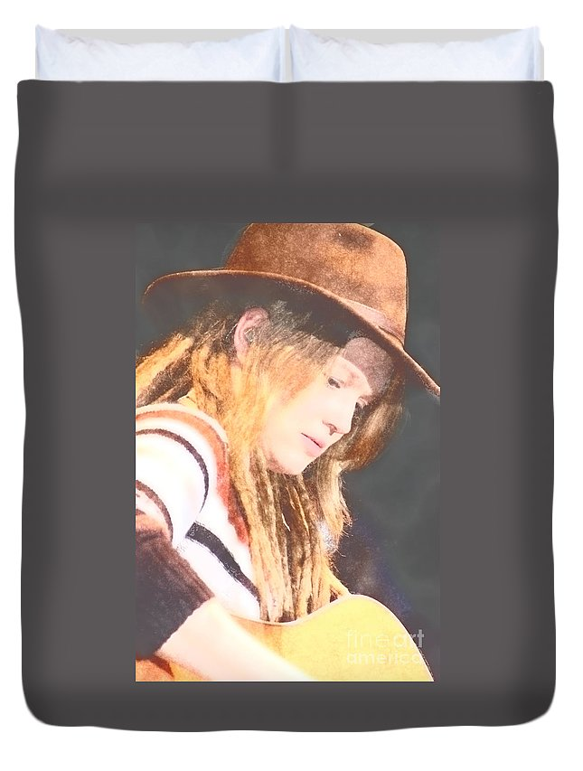Duvet Cover featuring the photograph Crystal Bowersox by Donna Bentley