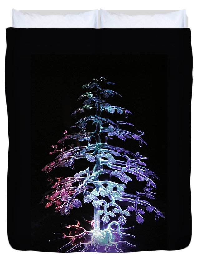 Crystal Duvet Cover featuring the photograph Crystal Tree In Color by Sumit Mehndiratta