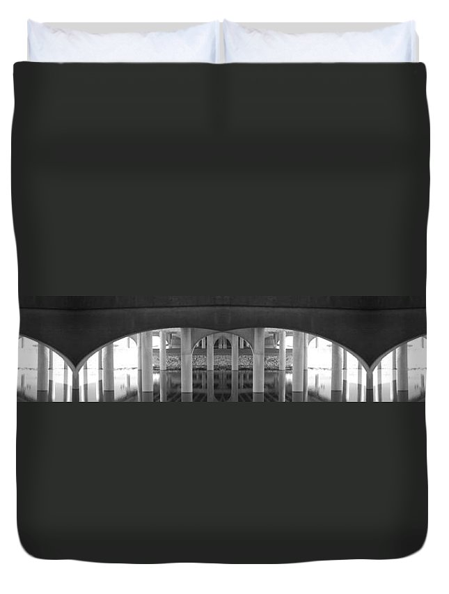 Artistic Duvet Cover featuring the photograph Curves And Poles by Maggy Marsh