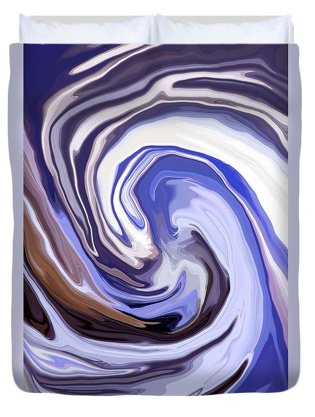 Abstract Duvet Cover featuring the mixed media Cyclone by Chris Butler