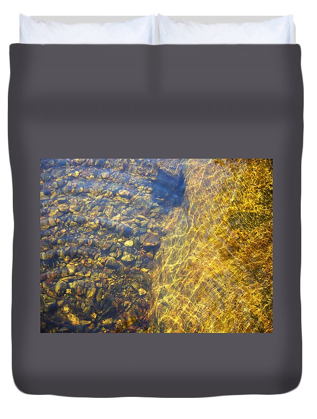 Stones Duvet Cover featuring the photograph Dancing Lines And Stones by Shirley Radebach
