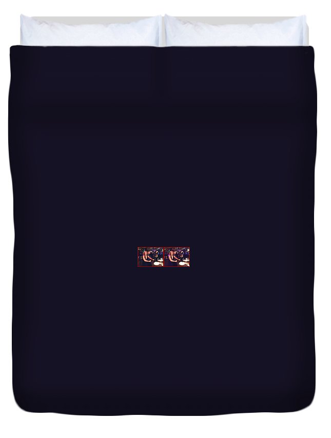 Brian Wallace Duvet Cover featuring the photograph Dancing New Years Eve - Gently Cross Your Eyes And Focus On The Middle Image by Brian Wallace