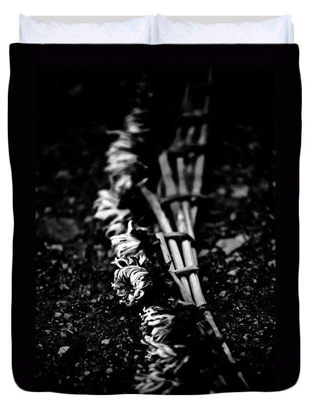 Art Duvet Cover featuring the photograph Dandelion Wreath by Hakon Soreide