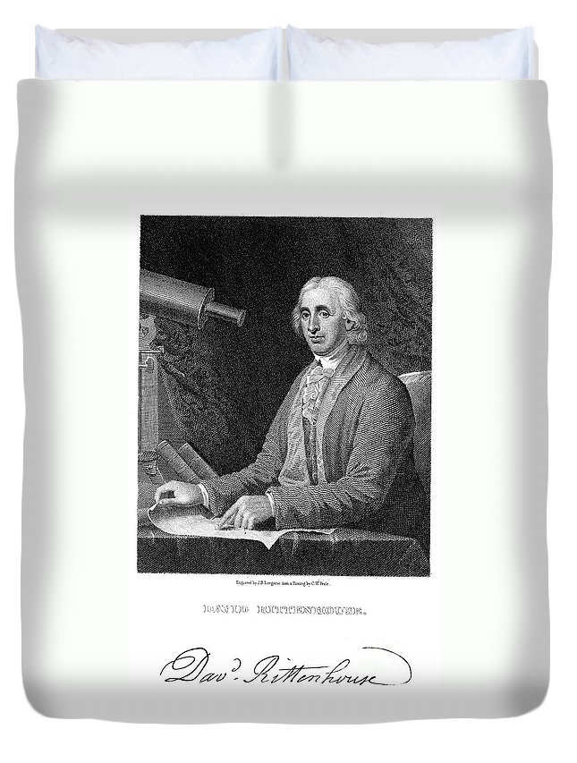 18th Century Duvet Cover featuring the photograph David Rittenhouse by Granger