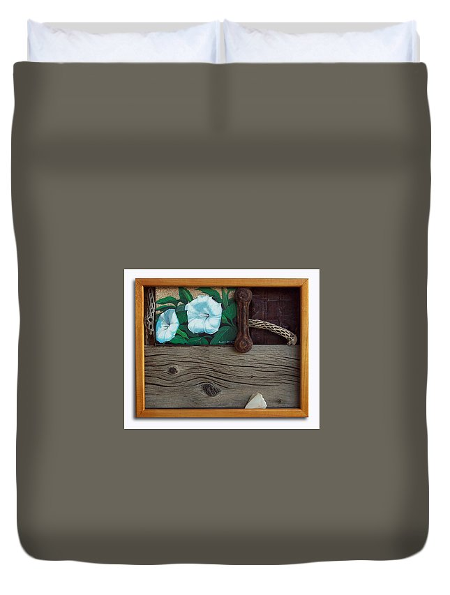 Assemblage Duvet Cover featuring the sculpture Deadly Nightshade by Snake Jagger