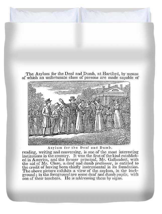 1842 Duvet Cover featuring the photograph Deaf And Dumb School, 1842 by Granger