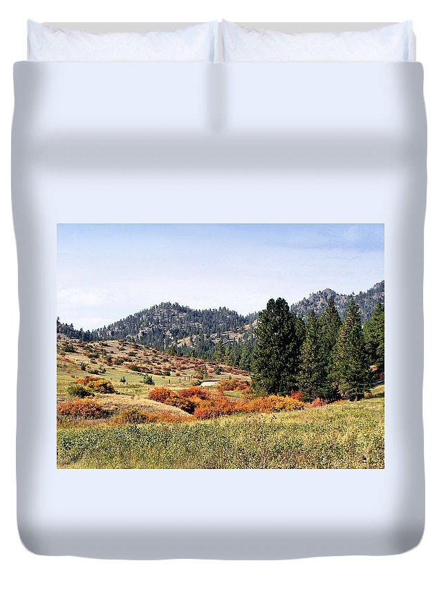 Deerborn Montana Duvet Cover featuring the photograph Deerborn Fall by Susan Kinney