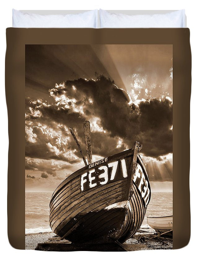Boat Duvet Cover featuring the photograph Denise by Meirion Matthias