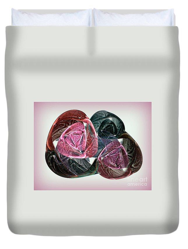 Desert Rose Duvet Cover featuring the digital art Desert Rose by Klara Acel