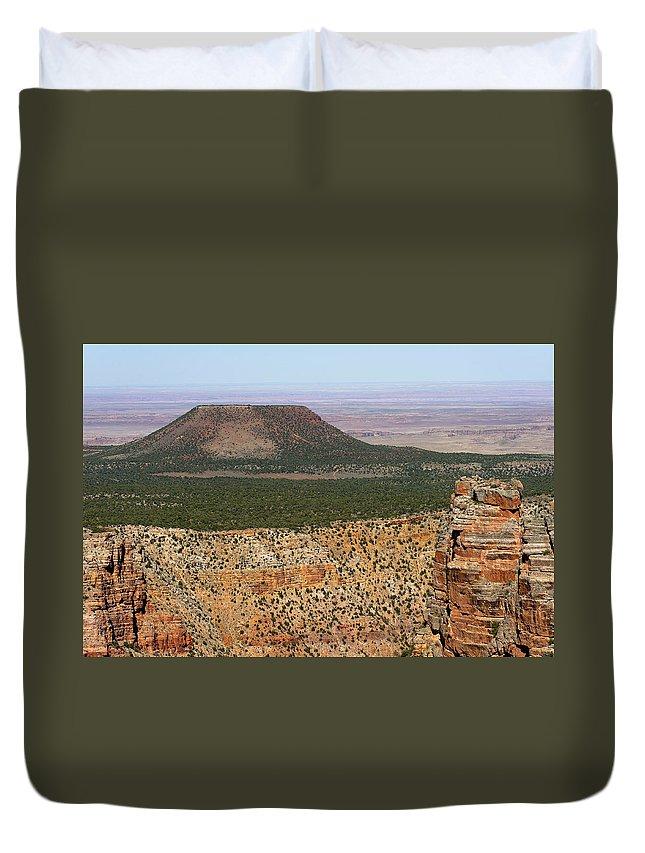 Desert Watch Tower Duvet Cover featuring the photograph Desert Watch Tower View by Julie Niemela