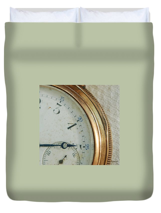 Antique Duvet Cover featuring the photograph Details Of Time 2 by Kay Lovingood
