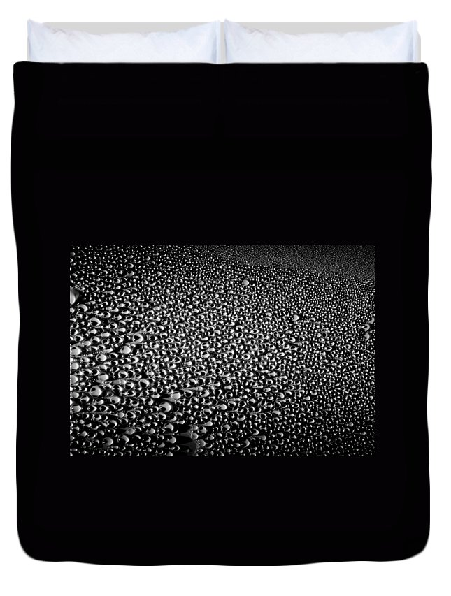 Dew Drops Duvet Cover featuring the photograph Dew Drops by Sumit Mehndiratta