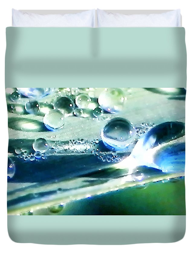 Beads Duvet Cover featuring the photograph Dew by Francesa Miller