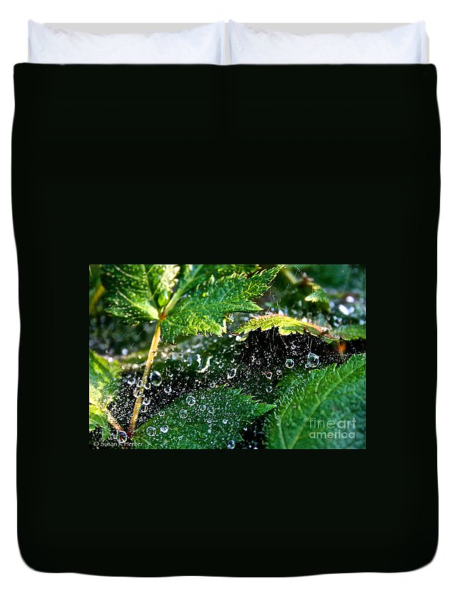 Outdoors Duvet Cover featuring the photograph Dewey Web by Susan Herber