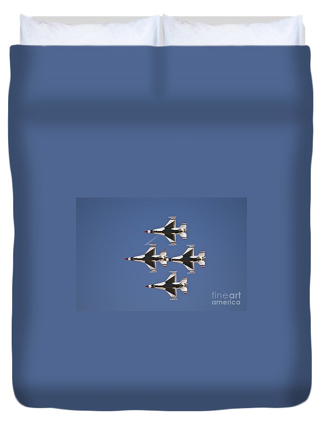 Usaf Duvet Cover featuring the photograph Diamond by Tim Mulina