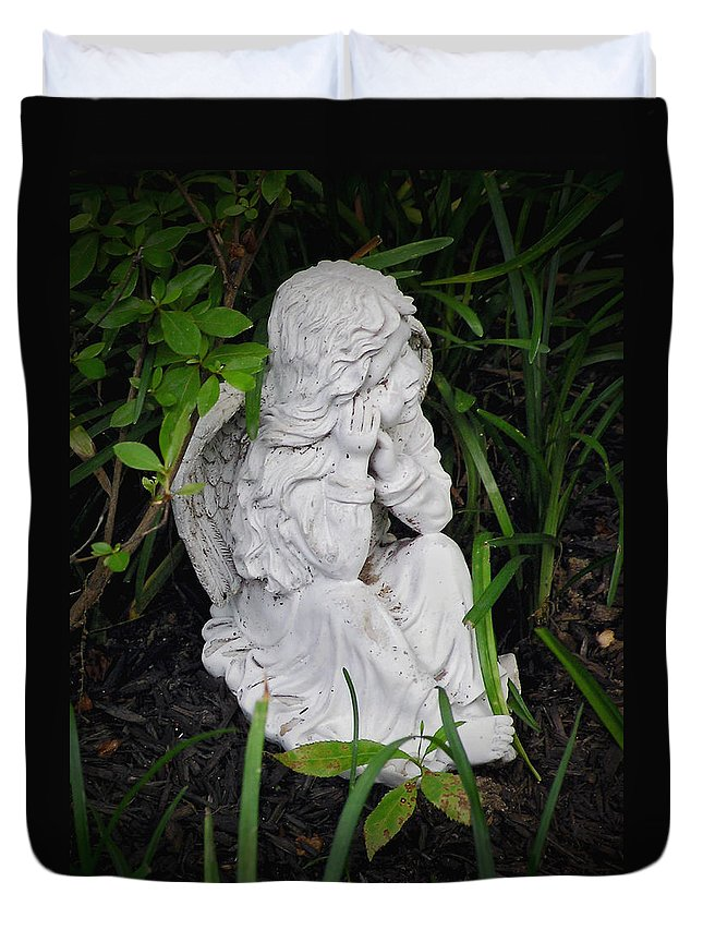 2d Duvet Cover featuring the photograph Dirty Little Angel by Brian Wallace