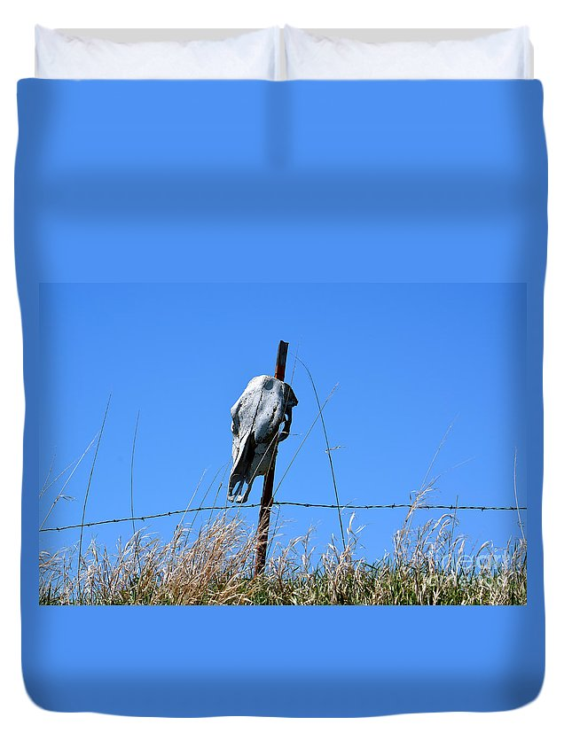 Digital Duvet Cover featuring the photograph Do Not Enter by Richard Ortolano