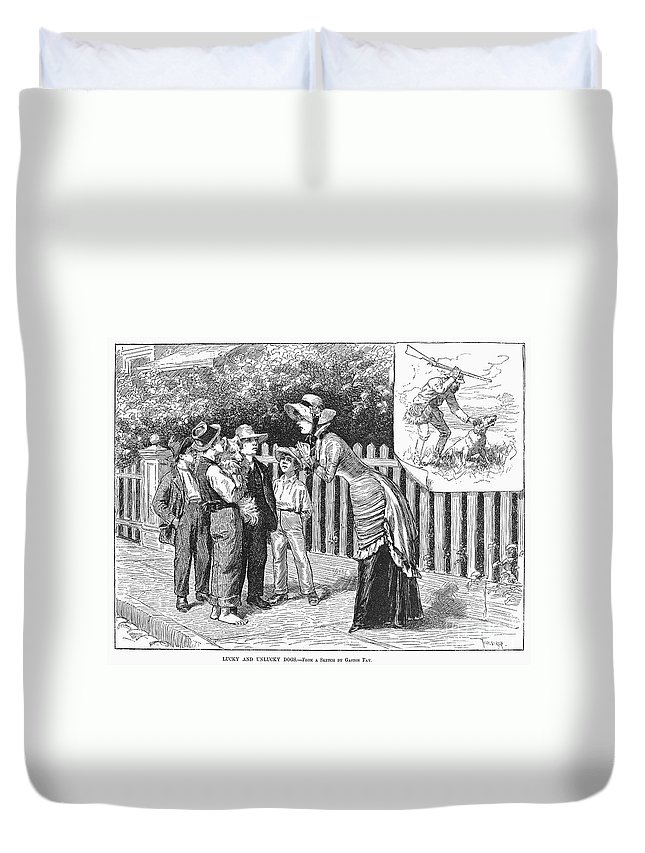 19th Century Duvet Cover featuring the photograph Dogs, 19th Century by Granger
