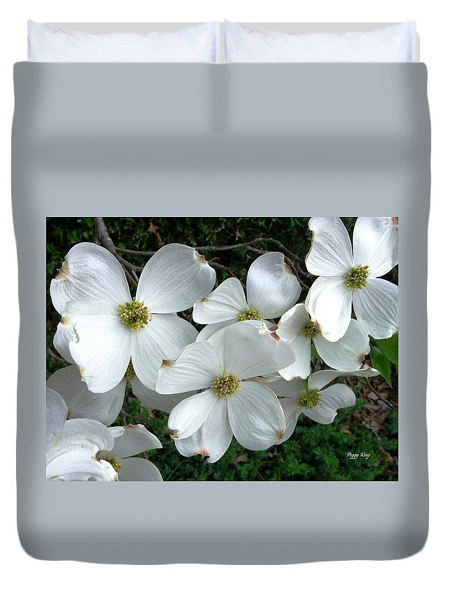 Dogwood Duvet Cover featuring the photograph Dogwood by Peggy King