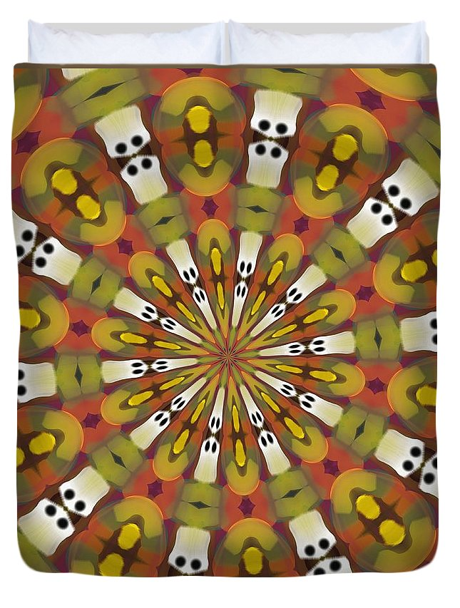 Dominos Duvet Cover featuring the digital art Dominoes by Alec Drake