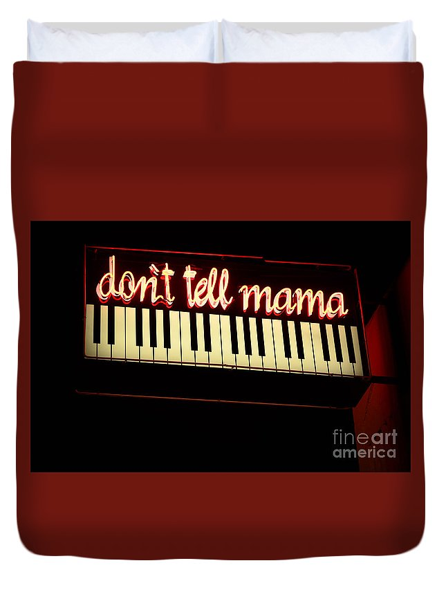 Dont Tell Mama Duvet Cover featuring the photograph Dont Tell Mama by Bob Christopher