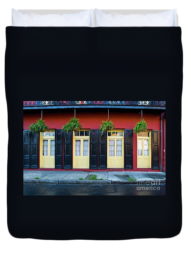 Door Duvet Cover featuring the photograph Doors And Shutters by Frances Hattier